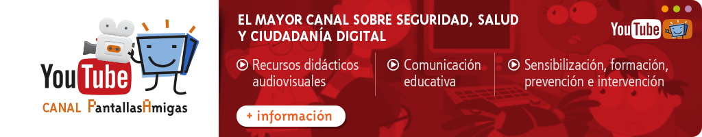 Canal de youtube.com de PantallasAmigas
